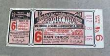 1940 WORLD SERIES TICKET - CINCINNATI REDS DETROIT TIGERS - Game 6 - EX/NM SHAPE