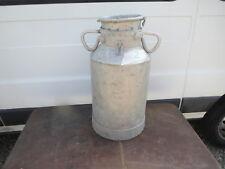 Ancien Bidon de Lait  pot aluminium  déco ferme montagne chalet creme savoie 2