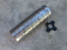 """0ld School Fusion Bmx Chrome Peg Fits 14mm Axles with 3/8"""" adapter"""
