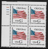 US Scott #2881, Plate Block #1111 1994 Old Glory VF MNH Upper Left