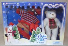 "Uneeda Bear Set, Winter Ski Set with Accessories Vintage 1986, 8-9"" Bear Set"