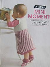 Patons Knitting Pattern Book No 1320 Mini Moments Babies