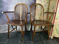 Ein Set Antiker Windsor Armlehnen Stühle