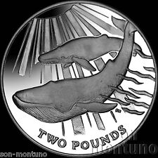 2013 BLUE WHALE CuNi Copper Nickel Unc/BU Coin South Georgia & Sandwich Islands
