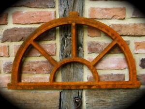 Iron Window for The Garden Wall, Barn Window Like Antique, Ruins Window Sun