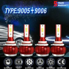 9005 9006 Combo LED Headlight Kit High Low Beam Bulb Light 6000K 4800W 720000LM