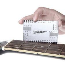 Durable String Action Ruler Gauge Tool in/mm for Guitar Bass Mandolin Banjo GA