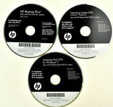 HP Restore Plus Software 3 DVD Kit for Windows 7, Compaq, Vista