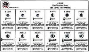 Disco Automotive 8126 Hex Washer Head Tek Screw Assortment