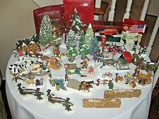 Huge 45 Piece Lot Christmas Village Accessories, Dept 56, Lemax, Workbench, Othe