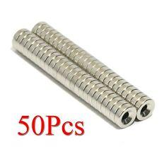 50pcs N38 Round Countersunk Ring Magnet 10mm x 3mm Hole 4mm Rare Earth Neodymium