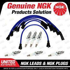 6 x NGK Spark Plugs + Ignition Leads Set for Ford Fairmont XP XR XT XW XY XA XB