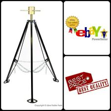 RV Camper Trailer King Pin Adjustable Tripod 5th Wheel Steel Stabilizer Jack New