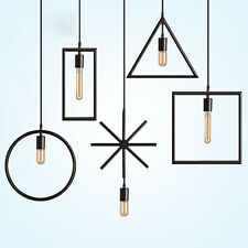 Vintage Creative Géométrie fer Lumière Plafond lampe rétro pendant éclairage