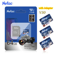 Netac 32GB-256GB Micro SD Card With Adapter Class 10 Memory Card TF Card lot