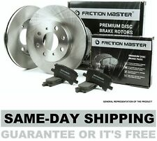 Front Brake Rotors and Metallic Pads 2003 2004 2005 FORD E-350 CLUB WAGON W/ DRW