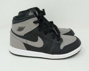 Nike Air Jordan 1 Retro High OG Shadow Black TD Toddler Kids Size 10C AQ2665-013