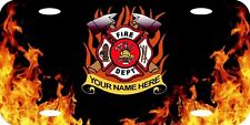 Personalized Custom Fire & Rescue Firefighter Fireman Aluminum License Plate New