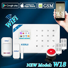 KERUI W18 WIFI GSM SMS APP Remote Home Burglar Intrude Security Alarm System Kit