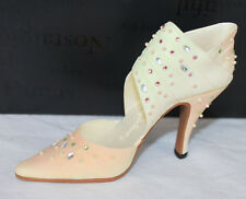 Just the Right Shoe Spring Raine 25073 Wrap Heel Rhinestones In Box Paperwork