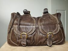 Xude London genuine leather brown handbag two strap medium