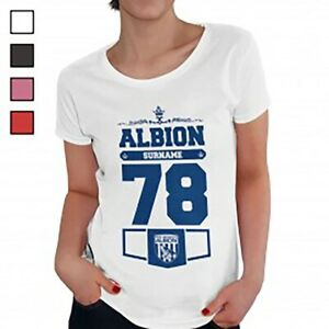 West Bromwich Albion F.C - Personalised Ladies T-Shirt (CLUB)