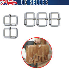 Silver 5mm Thick Roller Buckle Heavy Duty Brass for Belt Bags Clothing Crafts