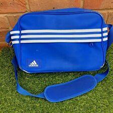 Adidas Retro Hombro Bolso para Mensajeros-Azul y Blanco