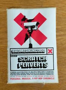 Banksy X Scratch Perverts 'BADMEANINGOOD' Promo Sticker, V.V. Rare, Mint