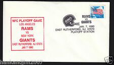 New York Giants vs La Rams 1990 Usps Special Issue Envelope 25cent Us Flag stamp