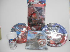 Coordinated Table Captain America Avengers Party Decorations Set Kit Birthday