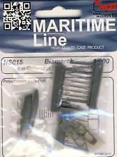 CMK Bismarck 2 6 m Cutter/botes salvavidas barcos 1:200 Trumpeter modelo-Kit