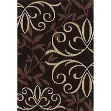 """283572 Orian Texture Weave Rugs Flame Resistant Iron Fleur Chocolate 31"""" X 45"""""""