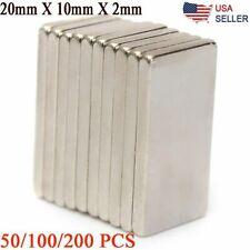 100200pcs N50 Neodymium Block Magnet 20x10x2mm Super Strong Rare Earth Magnets