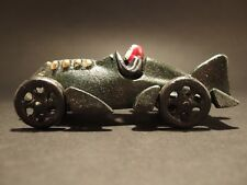 Antique Vintage Style Cast Iron Toy Race Car Dark Green