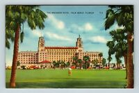 Palm Beach FL, The Breakers Hotel, Florida Linen Postcard