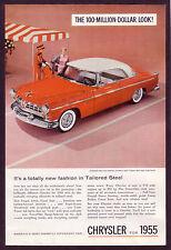 1955 Vintage Chrysler Windsor Deluxe Nassau Car Photo vintage print ad