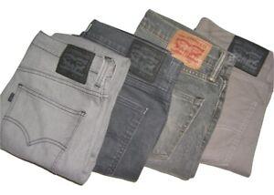 Mens LEVIS 511 Grey Slim Fit Denim Jeans W30 W31 W32 W33 W34 W36 W38 W40