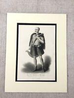 1854 Stampa Marabù Imam Islamico Capo Islam Religioso Leader Antico Incisione