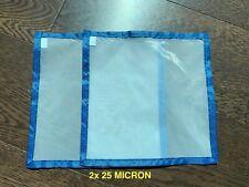 More details for 2x 25 micron nylon press screen mesh sieve - oil rosin cheese wax pollen essence