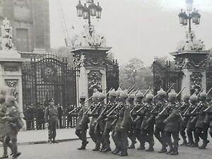 WW2 WWII Original Real Photograph Remembrance Armistce Day Sikhs Marching 1940s