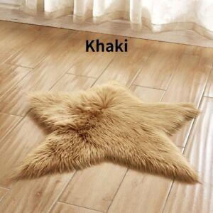 Five Pointed Star Area Rug Carpet Mat Pad Fluffy Cushion Home Floor Decor Soft