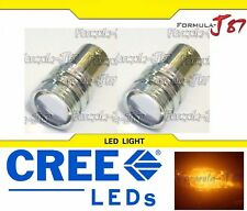 LED Light 5W 2357 Amber Orange Two Bulbs Front Turn Signal Replace Upgrade Lamp