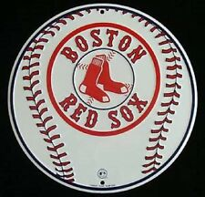 Boston Red Sox MLB Embossed Metal Novelty Round Sign