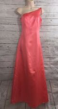 NWT Formal Gown Size 3/4 Pink Peach Melon Single Shoulder Full Length Dress NEW
