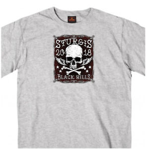2018 Sturgis Motorcycle Rally Gray T-Shirt Poison Label Design #1703