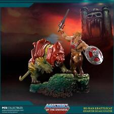 POP CULTURE SHOCK HE-MAN AND BATTLECAT STATUE, MOTU, NOT SIDESHOW, PCS, MASTERS