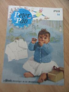 Peter Pan # P111 4ply Baby Vintage Knitting Pattern