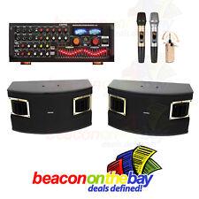 ASHTEC 1200w Bluetooth Mixer Amplifier Speakers Cordless Microphone Karaoke DJ