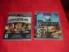 Tomb Raider Trilogy & Valkyria Chronicles (Sony PlayStation 3 ps3)